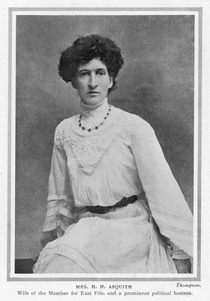 MARGOT ASQUITH Emma Alice Margaret, nee Tennant, second wife of H H Asquith, married 1894