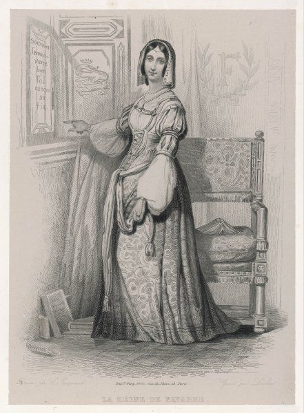 MARGUERITE de NAVARRE, or d'ANGOULEME, sister of Francois I, married (1) Duc d'Alencon, (2) Henri II de Navarre, writer & Protestant supporter active in politics