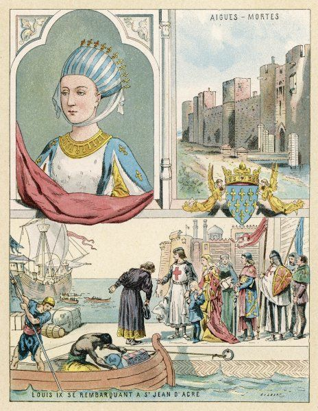 MARGUERITE DE PROVENCE queen of Louis IX of France, whom she accompanies to the Holy Land when he goes Crusading