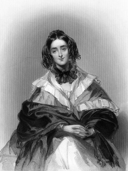 MARIA ANNE (nee Baillie) ASHLEY wife of the Honorable Anthony William Ashley : a much painted lady. Date: circa 1842