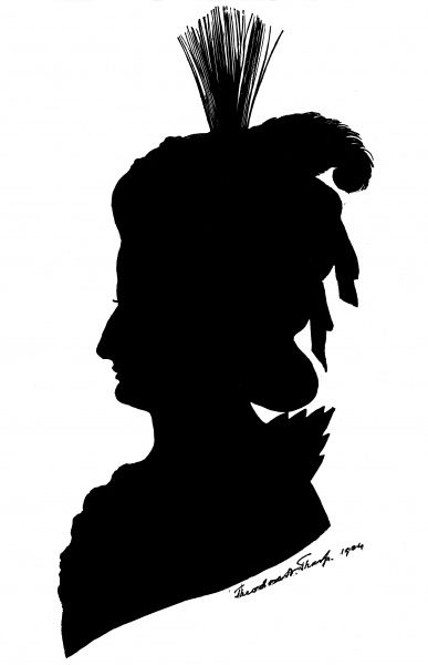 Silhouette portrait of Marie Antoinette (1755 - 1793), wife of King Louis XVI of France. Date: 1904