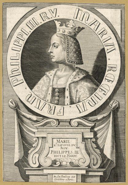MARIE DE BRABANT 2nd queen of Philippe III le Hardi, king of France