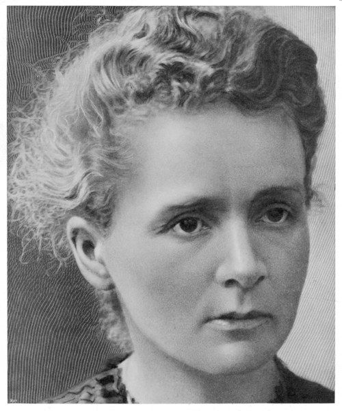 MARIE CURIE featured on page 1 of a women's magazine