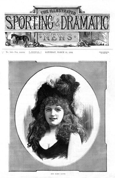 Marie Lloyd, born Matilda Alice Victoria Wood (1870 - 1922), British music hall singer, entertainer and comedienne
