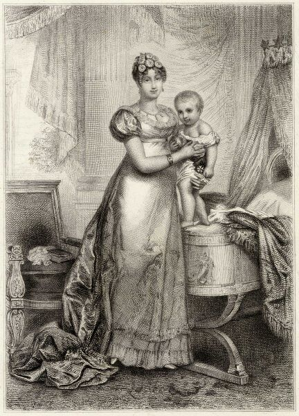 MARIE-LOUISE OF AUSTRIA second wife of Napoleon I with their son le Roi de Rome