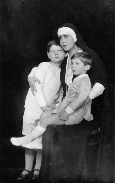 Marie of Romania with her grandsons