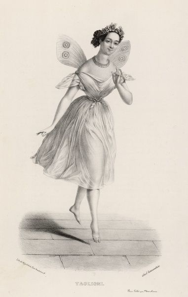 MARIE TAGLIONI Italian ballet dancer, one of the first to dance on the points of her toes