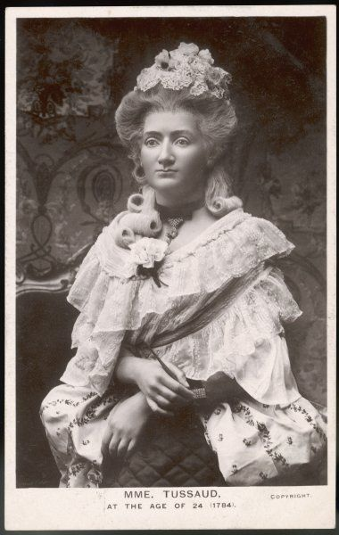 MADAME MARIE TUSSAUD the Swiss wax model maker at the age of 24, in the form of a waxwork model