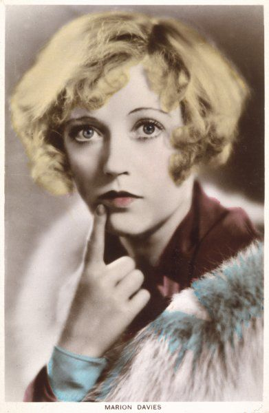 MARION DAVIES American film actress with a questioning look on her face