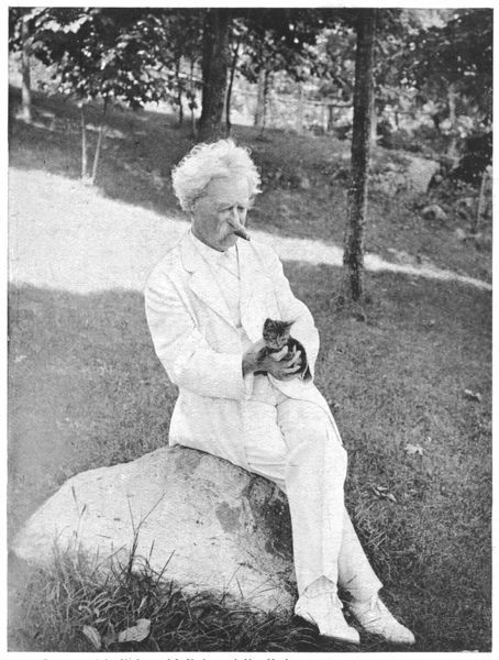 'Mark Twain is very fond of pets, especially kittens&#39