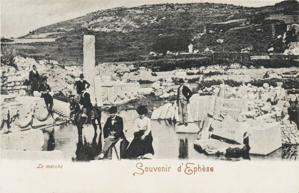New excavations in 1899 of the Marketplace at the site of the ancient city of Ephesus