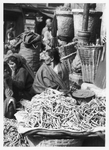 Market women offering fruit and vegetables in the market at Kathmandu, Nepal