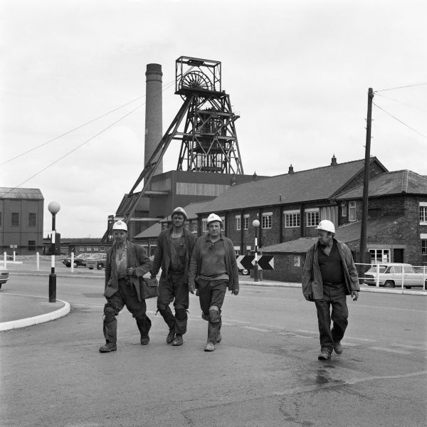 A group of miners at Markham Colliery (Markham no