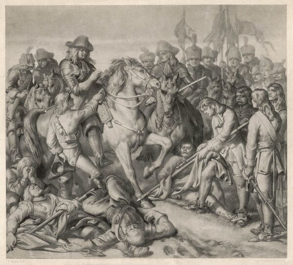 BATTLE OF BLENHEIM - Marlborough gives orders which enable him to win the decisive battle of the war, defeating a superior force of French under marshal Tallard