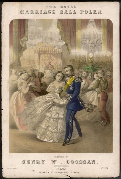 Dancing the polka at a royal marriage ball : the polka is first introduced in 1844 and rapidly catches on in fashionable ballrooms