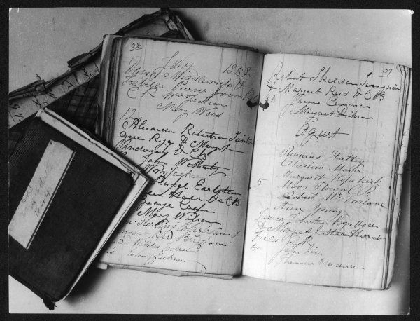 "Border marriage registers, kept by William Dickson, cobbler ""priest"" at Coldstream, Berwickshire, Scotland"