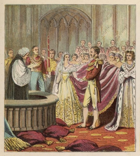The marriage of Queen Victoria to her cousin, Prince Albert of Saxe-Coburg-Gotha Date: 10 February 1840
