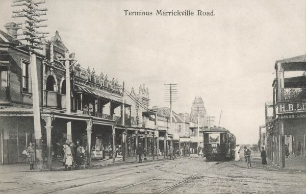 Marrickville Terminus, Marrickville Road, New South Wales, Australia