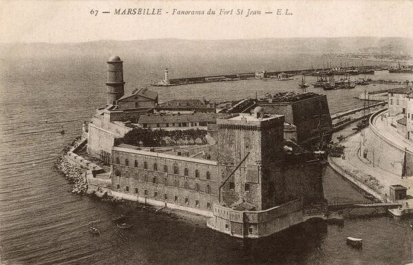 Marseille, France - Fort St Jean Date: circa 1910s