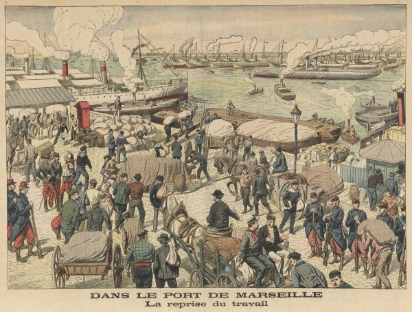 Marseille: a bustling harbour