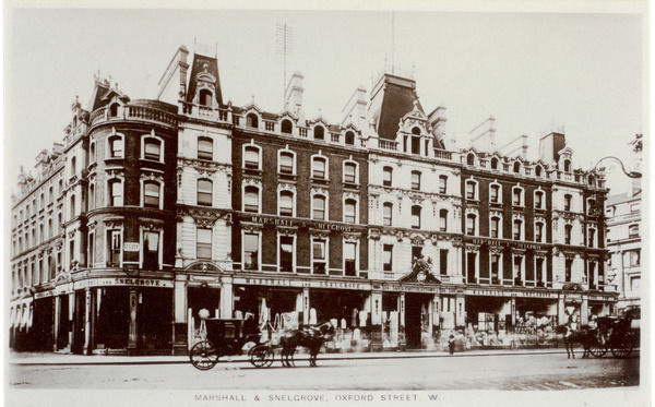 The Marshall & Snelgrove department store on Oxford Street, London