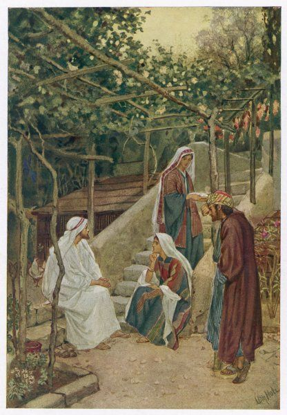 Jesus in Bethany with Mary, Martha and Lazarus