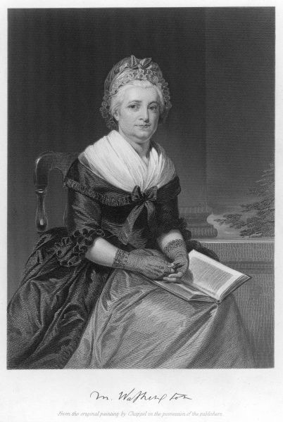 MARTHA WASHINGTON wife of George, American soldier, statesman and president. with her autograph