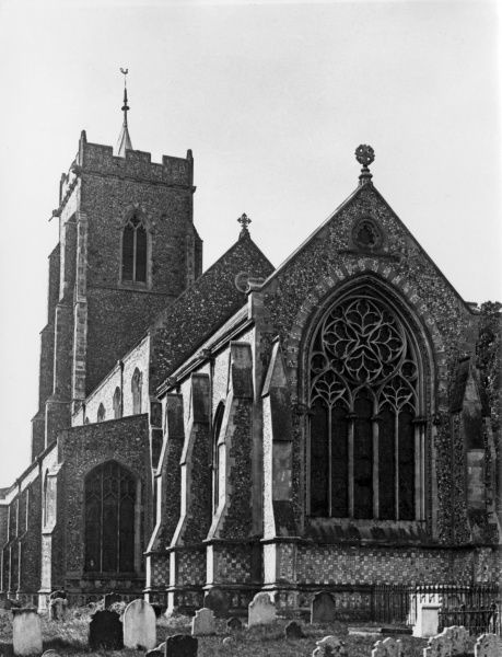 St. Mary's Church, Martham, Norfolk, England. The tower is early Perpendicular; the nave aisles and clerestories are mid 15th century. Date: 15th century