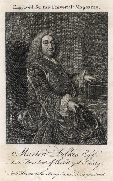 MARTIN FOLKES Scholar and antiquary, elected President of the Royal Society in 1741