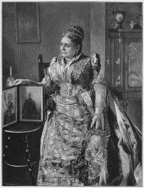 MARY ADELAIDE WILHELMINA ELIZABETH, duchess of Teck, princess of Cambridge, grand daughter of George III, mother of Queen Mary, the one who married George V. Date: 1833 - 1897