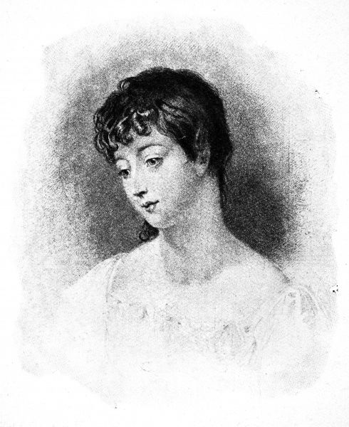 Illustration showing Mary Chaworth, the woman who George Gordon Byron, Lord Byron, was infatuated with from a young age
