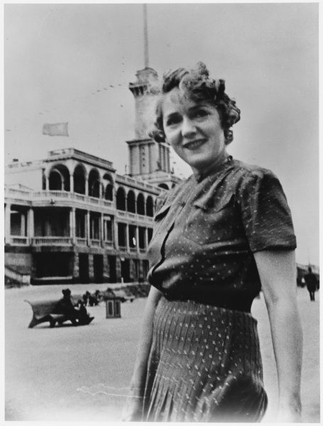 MARY PICKFORD American film actress during a visit to Moscow