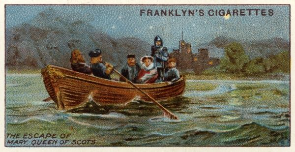 Mary Queen of Scots escapes from Loch Leven Castle in a rowing boat
