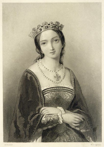 MARY TUDOR Catholic Queen of England, in a somewhat idealised, Victorian depiction