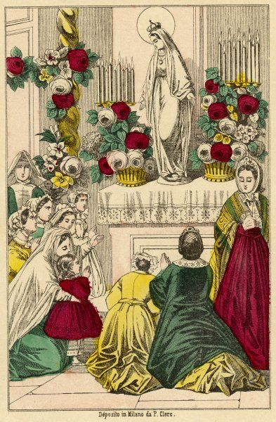Worshipping Mary during 'Mary's Month', May