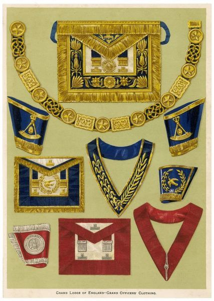 The regalia and accoutrements appropriate to the dignity, puissance and authority of the Grand Officer of the Grand Lodge of England