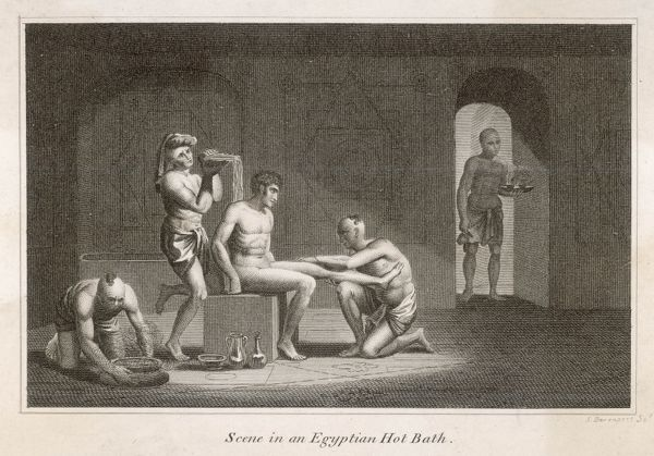 Treatment taking place inside and Egyptian 'Turkish' Bath