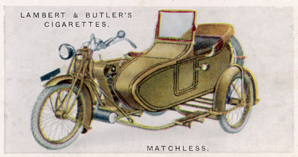 Matchless motor cycle with sidecar