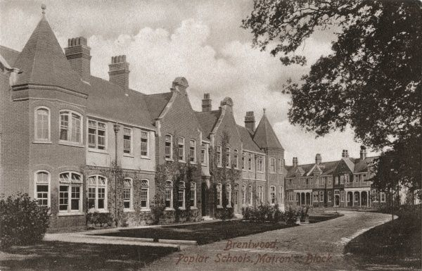 Matron's Block of the Poplar Schools, established in 1906 between Shenfield and Hutton, near Brentwood, Essex, to house pauper children away from the workhouse. As well as 'cottage homes', each housing 30 children, the site had its own schools