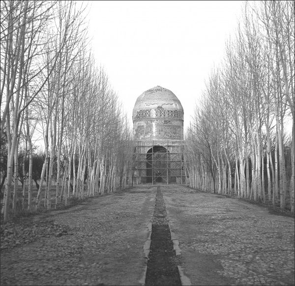 The mausoleum of Khaje Rabi,about 6km outside Mashhad in Iran - now extensively restored. Photograph by Ralph Ponsonby Watts