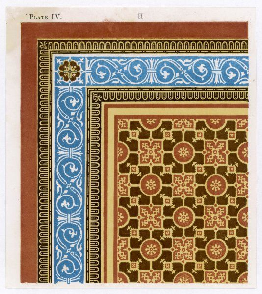 Design for linoleum by H B Garling for Maw's & Co. 3