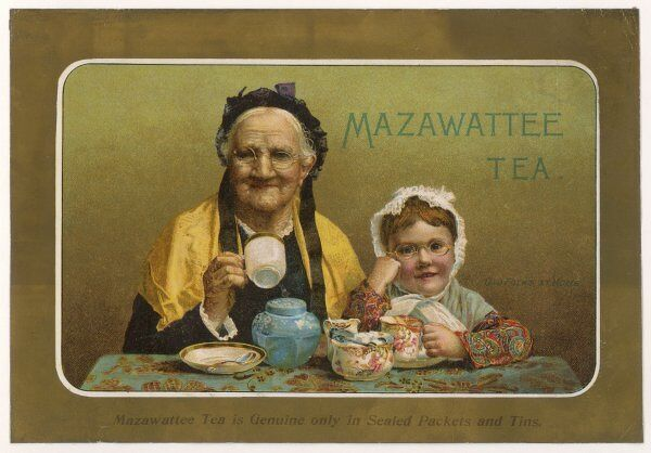 'The Old Folks at Home' enjoy a cup of MAZAWATTEE TEA