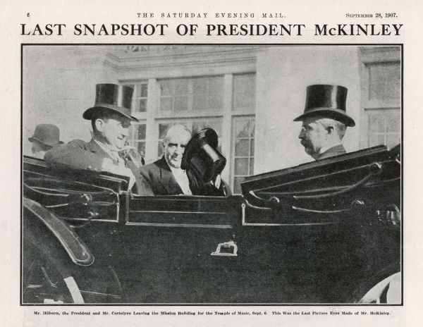 WILLIAM MCKINLEY The U.S. President leaves for the Temple of Music. One of the last photographs of the President taken on the day of his shooting