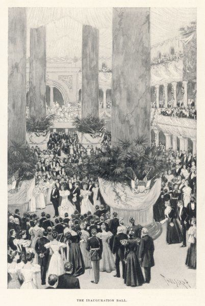 William McKinley's appointment is celebrated by the Inauguration Ball : who would guess that the guest of honour will soon be assassinated by an anarchist ?