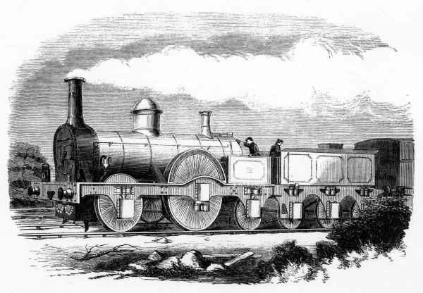 M'Connell's express locomotive for the London & North-Western Railway Date: 1852