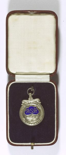 Swimming medal of the ASA (Amateur Swimming Association) Midland District, awarded for 3rd place in the 200 Yards Breast Stroke Championship
