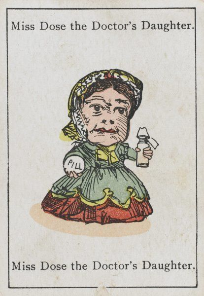 "Miss Dose the Doctor's Daughter, from ""Happy Families"" devised in Briatin in 1861"