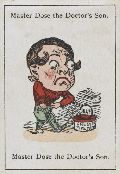 "Master Dose the Doctor's Son, from ""Happy Families"" devised in Britain by Mr Jacques in 1861"