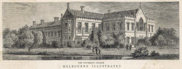 A view of Melbourne University, founded in 1859