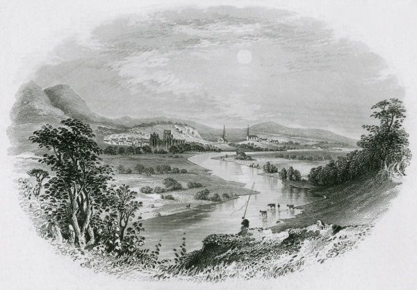 The River Tweed near Melrose, Scotland Date: circa 1850